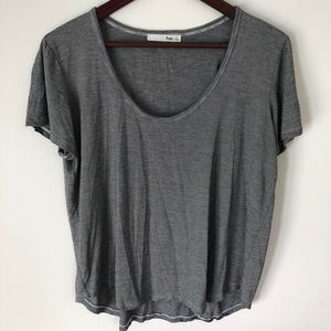 Wilfred Free grey scoop neck tee, size M